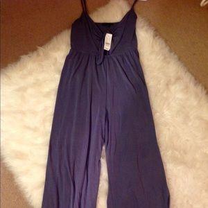 NWT Kendal & Kylie Plum Jumpsuit size L